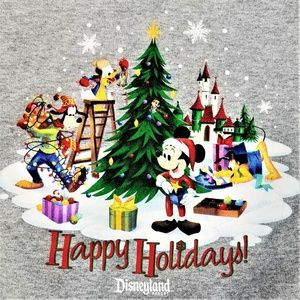 Disney Disneyland Resort Hoodie Christmas Graphic
